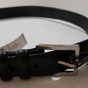 Authentic Coach Men's Black Leather Belt New 36